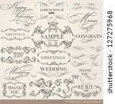 calligraphic design elements... | Shutterstock .eps vector #127275968