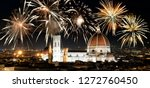 fireworks over florence duomo ... | Shutterstock . vector #1272760450