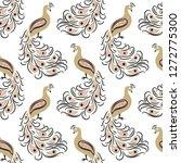 seamless hand drawn golden... | Shutterstock .eps vector #1272775300