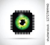 green realistic eyeball on a... | Shutterstock .eps vector #1272789940