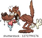 hungry cartoon wolf. vector... | Shutterstock .eps vector #1272794176