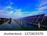 solar panels on the water | Shutterstock . vector #1272825370