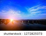 solar panels on the water | Shutterstock . vector #1272825373