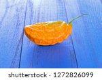 bitter melon on the board  | Shutterstock . vector #1272826099