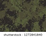 army green camouflage pattern... | Shutterstock .eps vector #1272841840