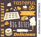 restaurant background element... | Shutterstock .eps vector #1272843613