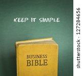 Stock photo business bible commandment keep it simple 127284656