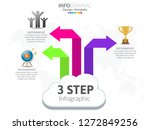 3 step of timeline infographics ...   Shutterstock .eps vector #1272849256