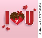 i love you. there is chocolate... | Shutterstock .eps vector #1272849406