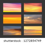 sunset and sunrise gradients ...   Shutterstock .eps vector #1272854749