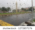 Inside Car Picture At A Rainy...