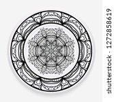 empty dish  porcelain plate... | Shutterstock .eps vector #1272858619