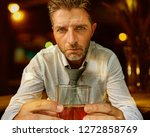 young attractive and depressed...   Shutterstock . vector #1272858769