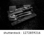spoon  fork  and knife in...   Shutterstock . vector #1272859216