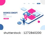 ux and ui design concept ... | Shutterstock .eps vector #1272860200