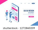 ux and ui design concept  young ...