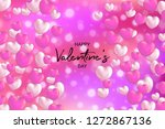 happy valentine's day card with ... | Shutterstock .eps vector #1272867136