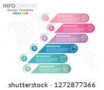6 step of timeline infographics ... | Shutterstock .eps vector #1272877366