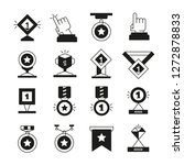award and prize icons set  | Shutterstock .eps vector #1272878833