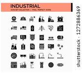 industrial icons set. ui pixel...
