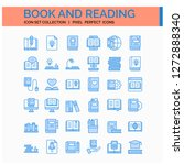 book and reading icons set. ui...