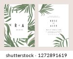 minimalist botanical wedding... | Shutterstock .eps vector #1272891619