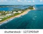 Aerial View Of Atlantic Ocean...