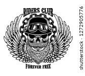 riders club. vintage biker...   Shutterstock .eps vector #1272905776