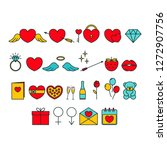 vector set of colorful... | Shutterstock .eps vector #1272907756