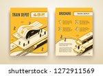 railway transport company... | Shutterstock .eps vector #1272911569