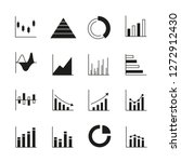 graph and chart icons | Shutterstock .eps vector #1272912430