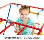 playground with little girl on... | Shutterstock . vector #127292030