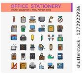 office stationery icons set. ui ...