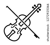 play violin with bow   string... | Shutterstock .eps vector #1272925366