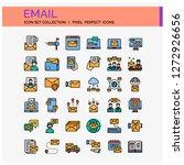 email icons set. ui pixel...