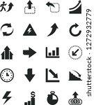 solid black vector icon set  ... | Shutterstock .eps vector #1272932779