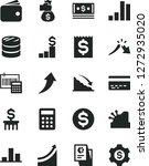 solid black vector icon set  ... | Shutterstock .eps vector #1272935020