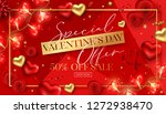 happy saint valentine's day... | Shutterstock .eps vector #1272938470