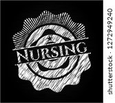nursing written on a chalkboard | Shutterstock .eps vector #1272949240