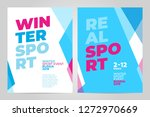 layout poster template design... | Shutterstock .eps vector #1272970669
