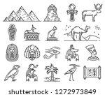 egypt thin line icons of... | Shutterstock .eps vector #1272973849
