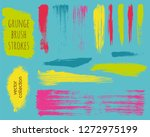 paint lines grunge collection.... | Shutterstock .eps vector #1272975199