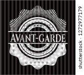 avant garde silvery shiny badge   Shutterstock .eps vector #1272977179