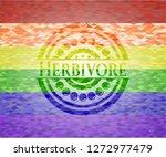 herbivore emblem on mosaic... | Shutterstock .eps vector #1272977479