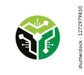 technology logo template | Shutterstock .eps vector #1272979810