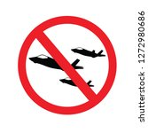 no fighter aircraft sign ... | Shutterstock .eps vector #1272980686