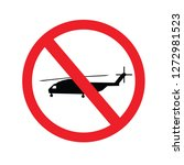 no war military helicopter sign.... | Shutterstock .eps vector #1272981523