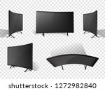 realistic modern television set.... | Shutterstock .eps vector #1272982840