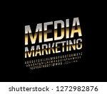 vector stylish emblem media... | Shutterstock .eps vector #1272982876