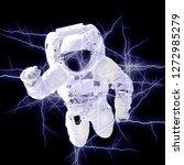 astronaut in spacesuit close up ... | Shutterstock . vector #1272985279